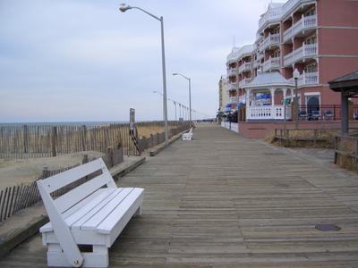 Almost empty boardwalk