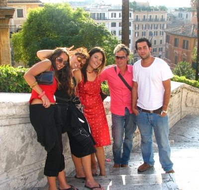 rome - spanish steps group